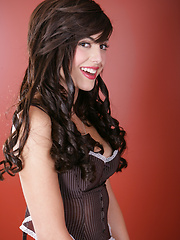 Babe in Brown Corset