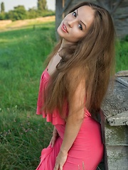 Arina G carefree allure, natural beauty, and sweet smile in a countryside shoot