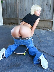 Amazing hot teen skater chick rides a mega dong after getting picked up skating the street hot amateur fucking pic
