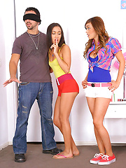 Super hot amia moretti shares her boyfriend for a hot teen 3some pics