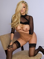 xoGisele shows off her hot body in a glam bodysuit where she strips everything off